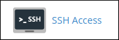 cPanel - Security - SSH Access icon