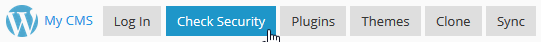The WordPress Toolkit button bar.