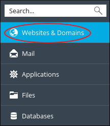 Websites and domains tab from Pleask sidebar.