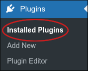 WordPress - Sidebar - Plugins - Installed Plugins